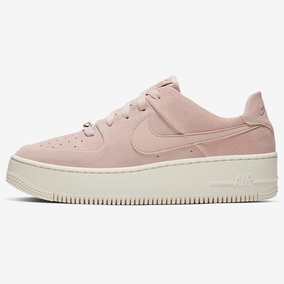Nike Air Force 1 Sage Low Pink Suede Women's 6